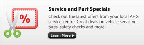 AHG Dealership Service and Parts Specials